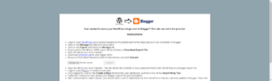 WordPress to Blogger Converter Tool Interface