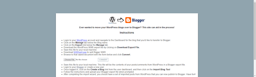 How-To: Import WordPress blog into Blogger [With Pictures] - The